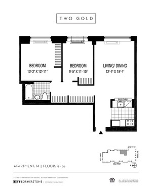 floorplan for 2 Gold Street #2414
