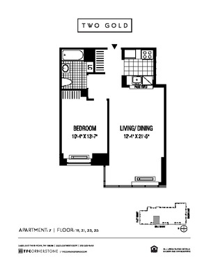floorplan for 2 Gold Street #2507