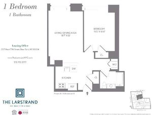 floorplan for 227 West 77th Street #19E
