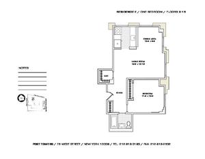 floorplan for 75 West Street #11E