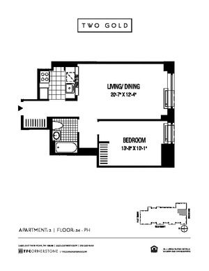 floorplan for 2 Gold Street #4602