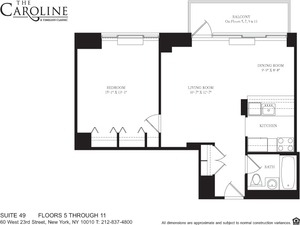 floorplan for 60 West 23rd Street #549
