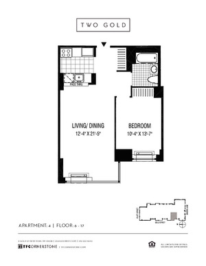 floorplan for 2 Gold Street #1704