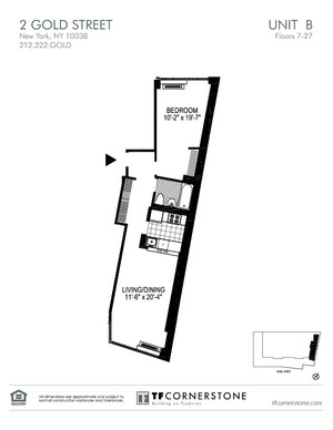 floorplan for 2 Gold Street #9B