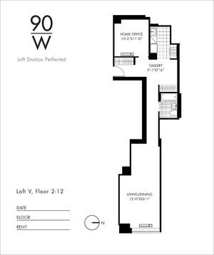 floorplan for 90 Washington Street #10V