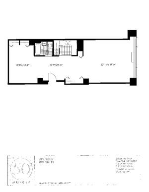 floorplan for 50 Murray Street #2010