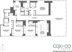 floorplan for 157 W 57th Street #51C