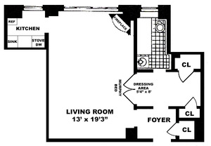 floorplan for 235 East 22nd Street #12M