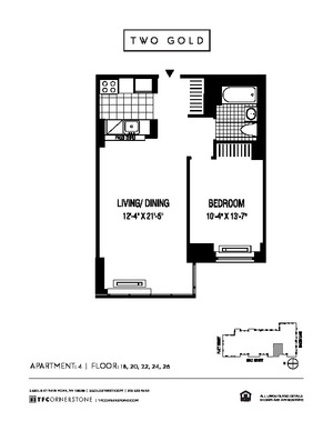 floorplan for 2 Gold Street #2604