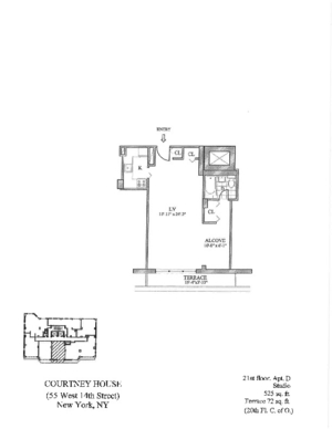 floorplan for 55 West 14th Street #21D