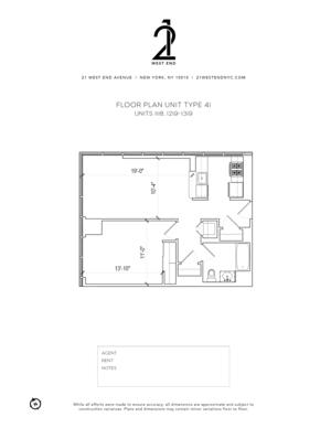 floorplan for 21 West End Avenue #1118
