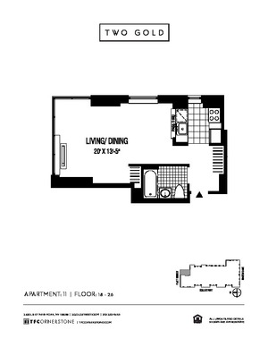 floorplan for 2 Gold Street #2411