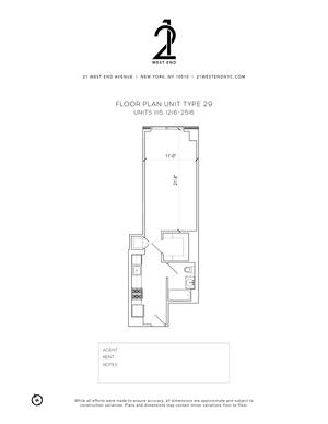 floorplan for 21 West End Avenue #1316