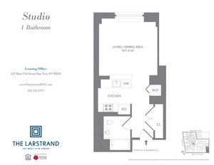 floorplan for 227 West 77th Street , #4C