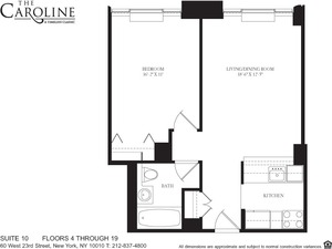 floorplan for 60 West 23rd Street #610