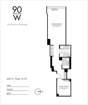 floorplan for 90 Washington Street #9C