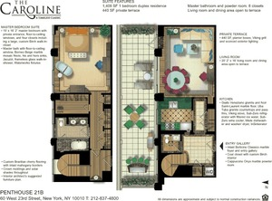 floorplan for 60 West 23rd Street #PH2110