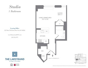 floorplan for 227 West 77th Street , #9H