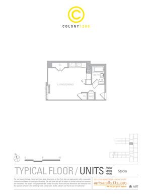 floorplan for 1209 Dekalb Avenue #306