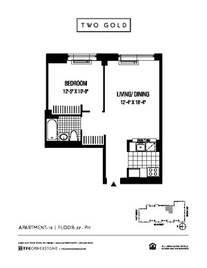 floorplan for 2 Gold Street #3413