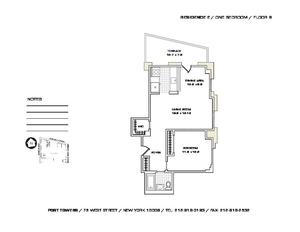 floorplan for 75 West Street #8E