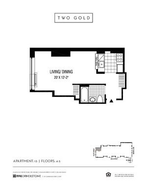 floorplan for 2 Gold Street #513