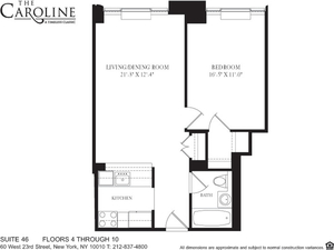 floorplan for 60 West 23rd Street #446