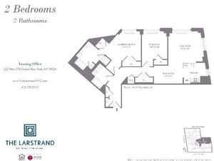 floorplan for 227 West 77th Street #20A
