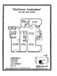 floorplan for 1 Main Street #3A