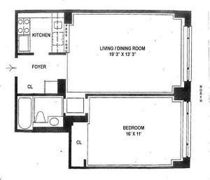 floorplan for 30 East 85th Street #5F