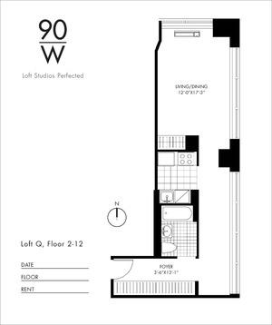 floorplan for 90 Washington Street #12Q