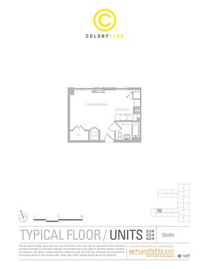 floorplan for 1209 Dekalb Avenue #424