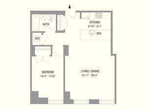 floorplan for 55 West 17th Street #502