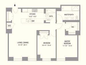 floorplan for 55 West 17th Street #603