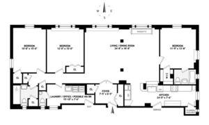 floorplan for 221 West 82nd Street #6AB