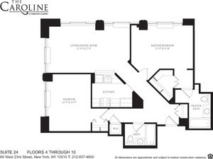 floorplan for 60 West 23rd Street #724