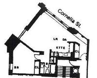 floorplan for 2 Cornelia Street #506
