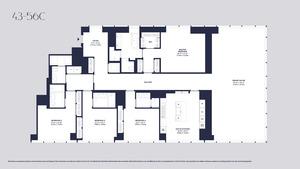 floorplan for 157 West 57th Street #44C