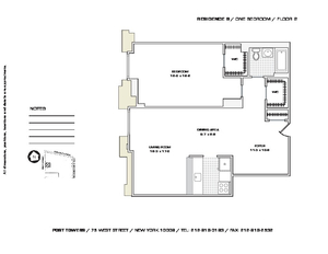 floorplan for 75 West Street #2B