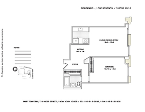 floorplan for 75 West Street #10L