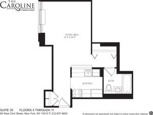 floorplan for 60 West 23rd Street #435
