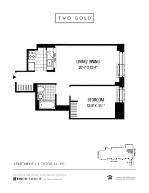 floorplan for 2 Gold Street #3502