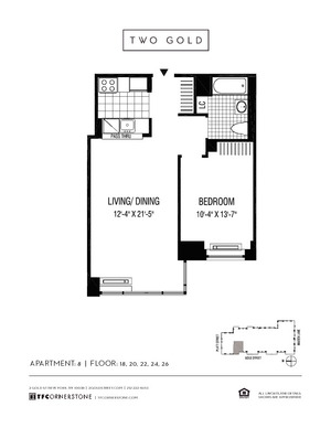 floorplan for 2 Gold Street #2208