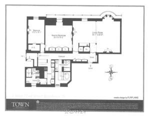 floorplan for 1 West 72nd Street #78