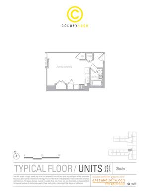 floorplan for 1209 Dekalb Avenue #413