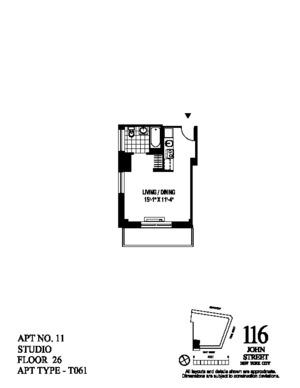 floorplan for 116 John Street #2611