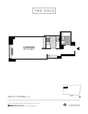floorplan for 2 Gold Street #5N