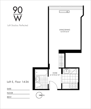 floorplan for 90 Washington Street #21E