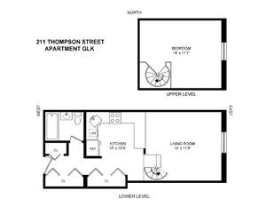 floorplan for 211 Thompson Street #GLK
