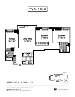 floorplan for 2 Gold Street #3712